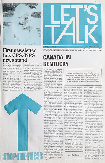 Photo of the first page of the first edition of Let's Talk published in 1975.