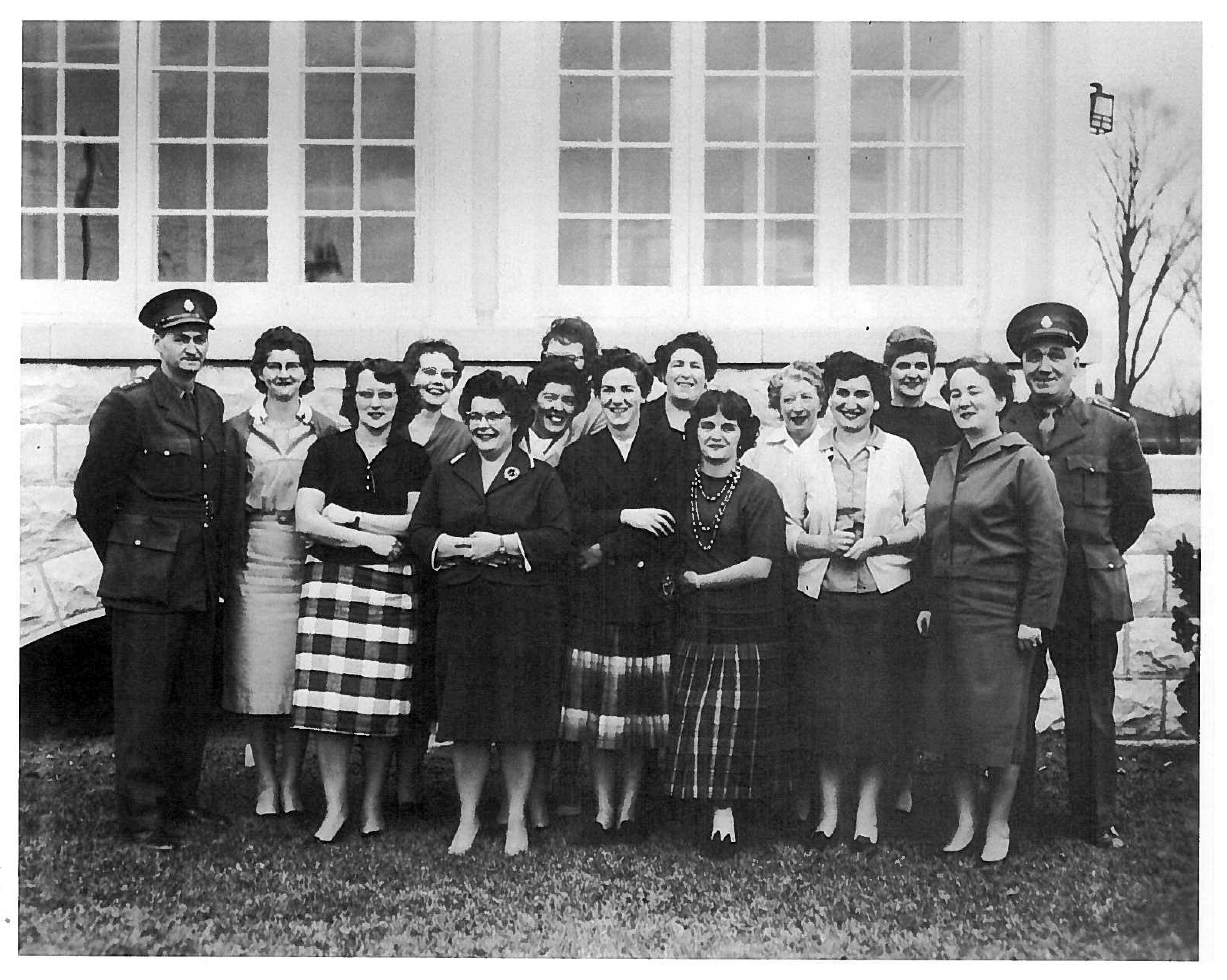 """November 1960 - A photo of the first formal training class for female Correctional Officers. Staff attending were """"matrons"""" at the Prison for Women."""