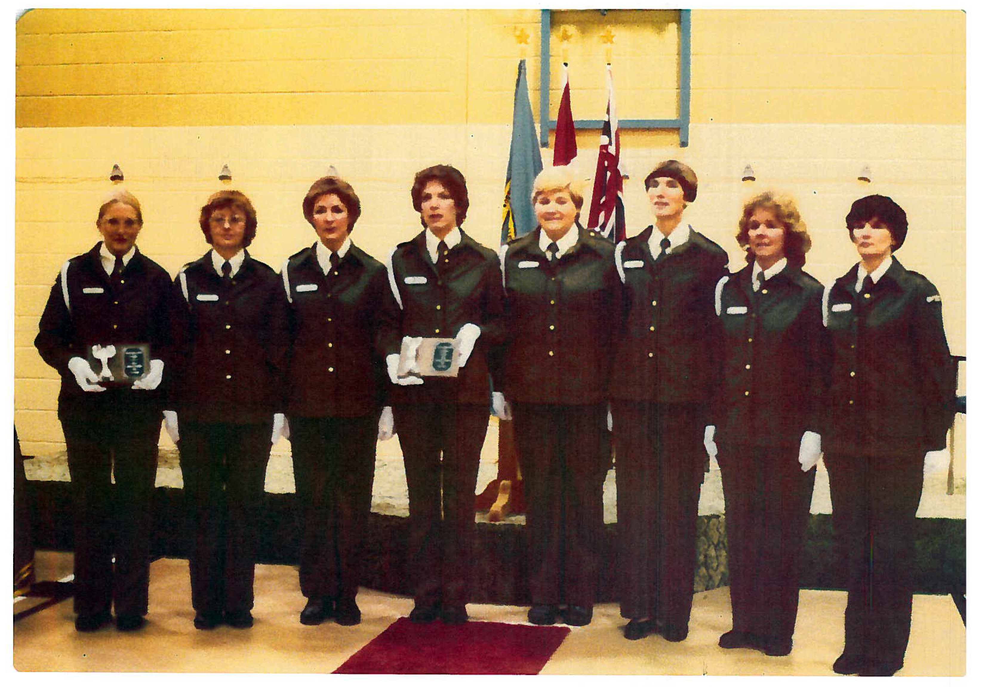 A photo of the first female Correctional Officers in Ontario