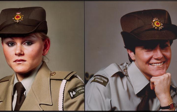 Elizabeth Van Allen's and Marg McCullough's Correctional Officer training graduation photo.