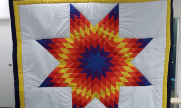 A photo of the blanket made by the offender