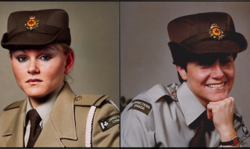 Elizabeth Van Allen's and Marg McCullough's Correctional Officer training graduation photo.