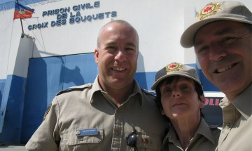 A photo of Bruno Jean in Haiti with his colleagues